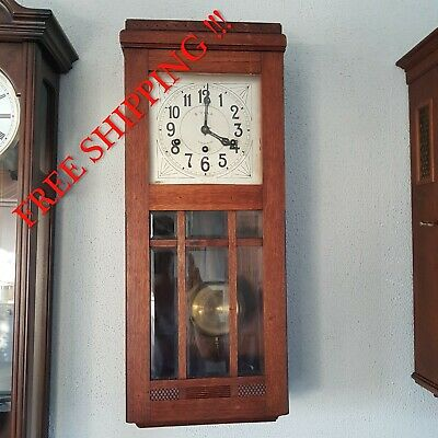 0282 - Rare Antique Lenzkirch  Westminster chime wall clock