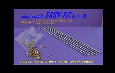 EASY-FIT Replacement Axle Kit for MATCHBOX REGULAR WHEELS Restorations RWA-KIT