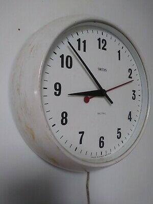 Smiths Sectric Delhi Electric Wall Clock . School industrial vintage station.
