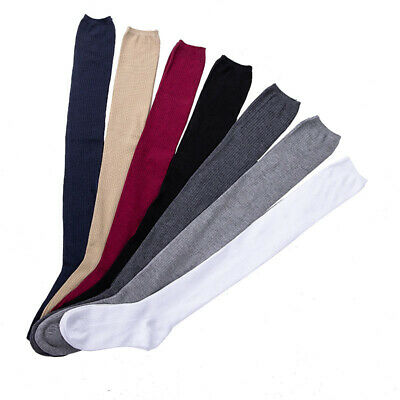 1 pair Solid Colors Knitted Sexy Stocking Women Warm Thigh High Over the Kn A4U4