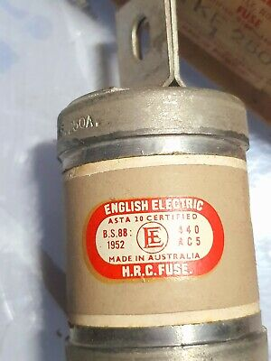 250 Amp TKF 250A 3 Phase HRC Fuse English Electric