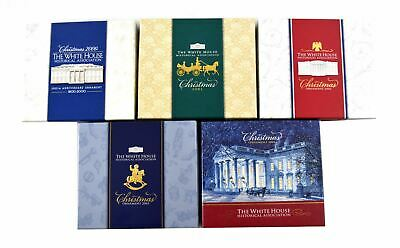 Lot of 5 White House Historical Association Christmas Ornament Collection (0203)