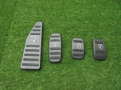Fiat 500 Abarth Foot Pedals And Foot Rest Plates  In Carbon Genuine