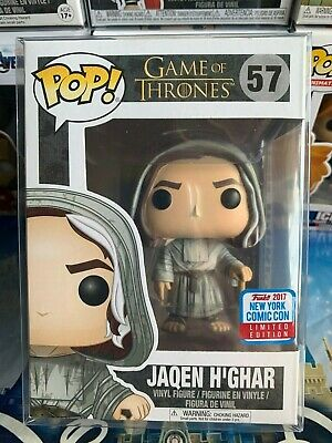 Funko POP! Game of Thrones! JAQEN H'GHAR! 2017 NYCC EXCLUSIVE! w/Pop shield