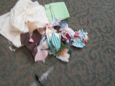 Early 1900 Antique Quilt Patches and Materials for Quilting