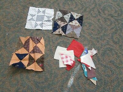 Early 1900 Antique Quilt Patches and Quilting Material