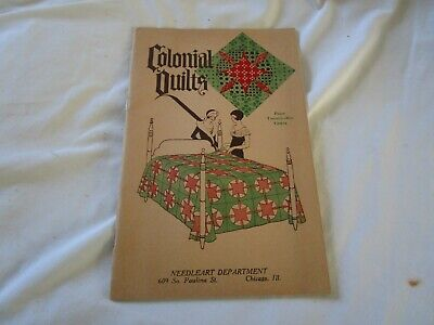 1933 Antique Colonial Quilts Pamphlet Quilting Designs Patchwork Etc