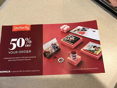 Shutterfly Coupon  50% Off Your Order - Expires December 17, 2019