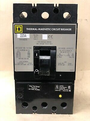Square D KHP36225 225 Amp 600 V 3 Pole Circuit Breaker