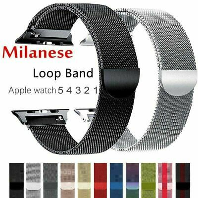 for Apple Watch Series 1 & 2 & 3 & 4 & 5 Milanese Loop Magnetic Metal Band Strap