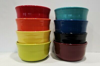 Fiesta Fiestaware New 2nds, Lot of 8 Gusto Soup Chili Bowls, Mixed Color Set