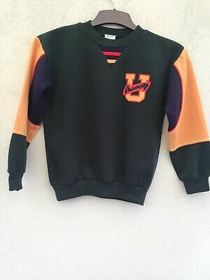 Vintage Boys Long Sleeved Fleece Top Age 10-11 Yrs From Streets Ahead Green Mix