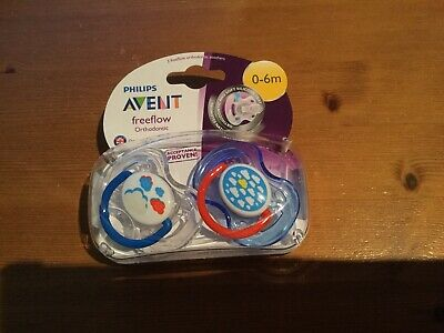 Avent Freeflow Orthodontic Soothers 0-6 Months