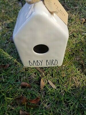Sweet New Rae Dunn Magenta Ceramic Christmas Baby Bird Birdhouse Mom Gift