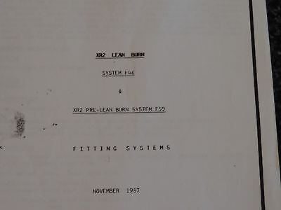 Used Fiesta Xr2 Turbo Technics Fitting Systems 22 X Info Sheets Reproduction