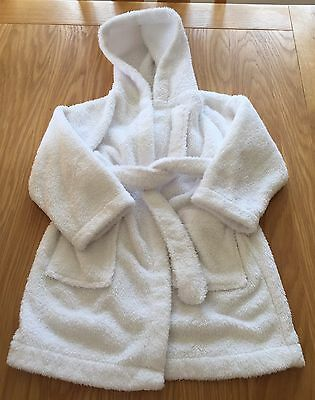 Girls White John Lewis Dressing Gown Size 2 Years