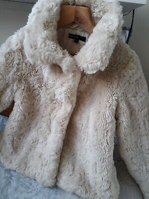 Autograph By M&S Winter White Furry Coat BEAUTIFUL age 5-6 Years xxxx SALE XX