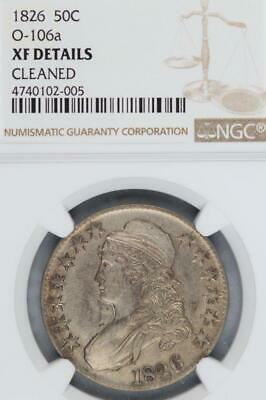 1826 Capped Bust Half Dollar NGC XF Details O-106a Cleaned*DoubleJCoins* 3005-63