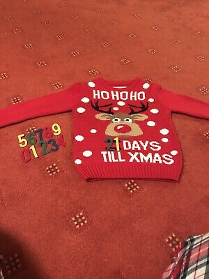 Unisex Count Down To Christmas Jumper Age 6