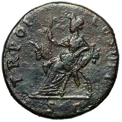 LARGE  High Quality Roman Coin Trajan Famous Emperor of Rome CERTIFIED AUTHENTIC