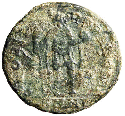 """LARGE Late Roman Coin of Honorius """"Glory Romans"""" Nicomedia CERTIFIED AUTHENTIC"""
