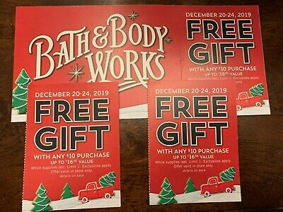Bath & Body Works x3 Lot Gift Coupon worth $49.50 Value
