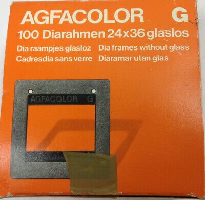 Vintage Agfacolor Dia Frames Without Glass 24x36 Approx 72pcs Type 5849/500