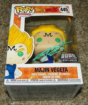 Chris Sabat Signed Majin Vegeta Over9000 DragonBall Z Funko Pop Auto BAS Beckett