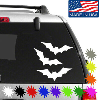 Flying Bats Vinyl Sticker BUY 2 GET 1 FREE Choose Size & Color Holloween 015