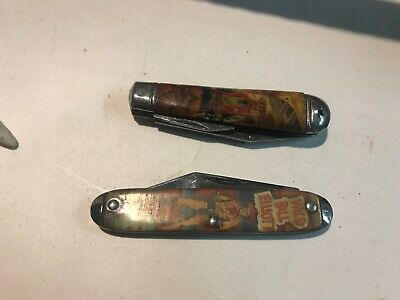 two  collectable Vintage  Pocket Knifes made in usa and england  sheffied