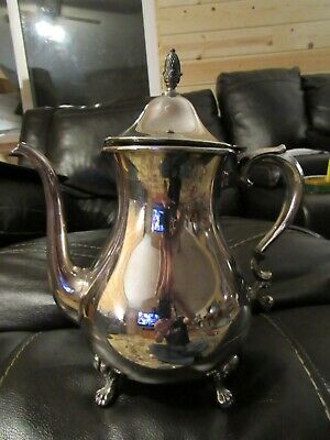 Sheffield Silver Co. Silver Plate Swan Neck Footed Teapot