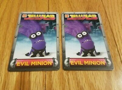 TWO (2) RARE Evil Minion Cards Despicable Me Jelly Lab Game Dave & Busters