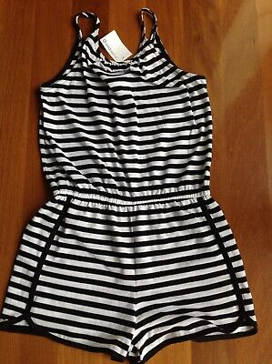 BNWT - TARGET black & white striped playsuit (size 14) RRP $12