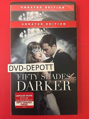 Fifty Shades Darker Unrated Edition DVD AUTHENTIC  W/Slipcover Free Shipping