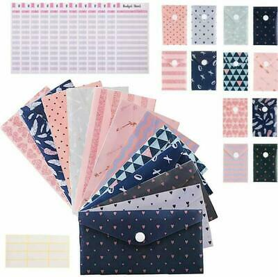 Includes 12 Budget Tracking Sheets and Bonus Pen Great Gift for 2020 Planning! Water Resistant Envelopes Cash Budgeting System 12 Reusable Cash Envelopes and Coin Envelopes with Snap Button