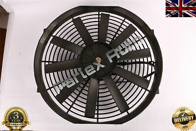 "Curved Universal Engine Radiator Intercooler Cooling 24V Electric Fan ""14"