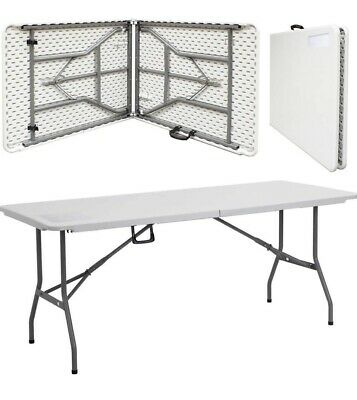 Premium Heavy Duty 6ft Folding Table For Parties Camping Picnics Dinners