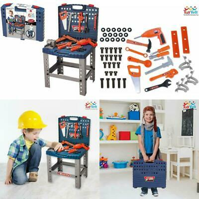 Kids Toy Workbench with Tools Electric Drill Educational Pretend Play Toys 68 Pc