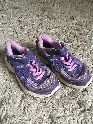 Girls Nike Black Pink Trainers Size 12