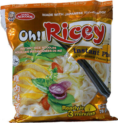 Oh! Ricey Vietnamese Rice Noodles Instant Pho Chicken Flavour 70g x 4 packs