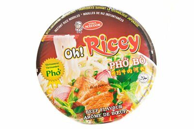 Oh! Ricey Vietnamese Noddle Soup Pho Beef Bowl 70g (Pack of 12 packs)