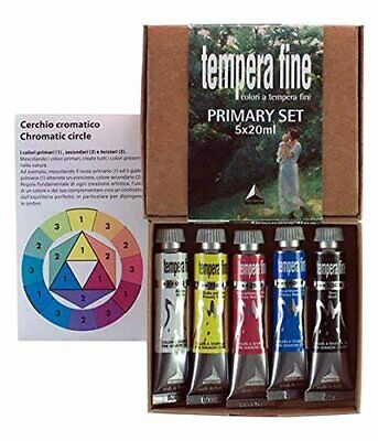 Industria Maimeri 2598049 - Colori a Tempera, Set 5 Tubetti, Da 20 ml