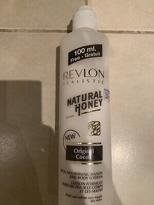 New Revlon Realistic Natural Honey With Cocoa Hand & Body Lotion 600ml