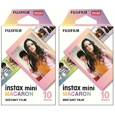 2 Packs 20 Photos Macaron FujiFilm Fuji Instax Mini Film Polaroid 7S SP-2 Liplay