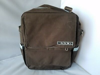 Jujube Ju Ju Be Diaper Bag Baby Travel Carry Backpack Brown Stain Treated Fabric