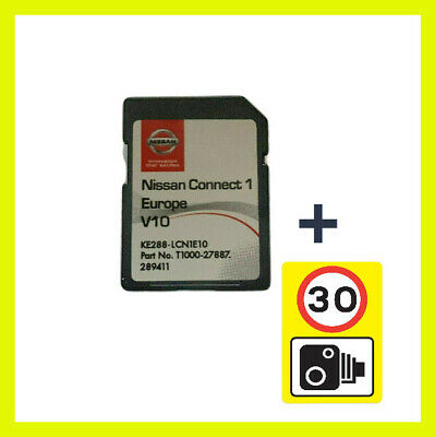 2020 2019 V9 Nissan Connect 1 Sd Card Europe Maps Lcn1 Sat Nav + Speed Camera