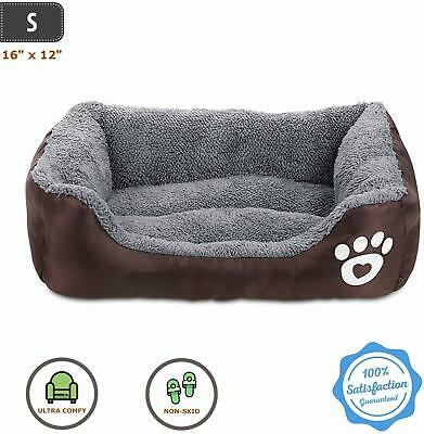 Orthopedic Self Warming Dog Bed Pet Lounger Deluxe Cushion for Crate Foam Soft