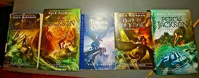 Percy Jackson and the Olympians 5 Book Paperback Set