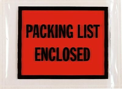 SI Products Packing List Enclosed Envelopes, Full-Face 53022