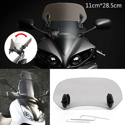 Motorcycle Ajustable Clip On Pare-brise Extension Spoiler Wind Deflector Fumée N